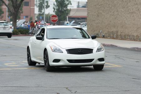 Woodland Hills, CA, USA - July 5, 2015: Infiniti-G37 car on display at the Supercar Sunday car event.
