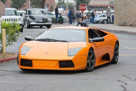 Woodland Hills, CA, USA - July 5, 2015: Lamborghini Murcielago car on display at the Supercar Sunday car event. Stok Fotoğraf - 42367233