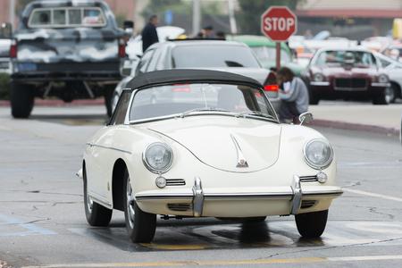 Woodland Hills, CA, USA - July 5, 2015: Porsche 356C car on display at the Supercar Sunday car event.
