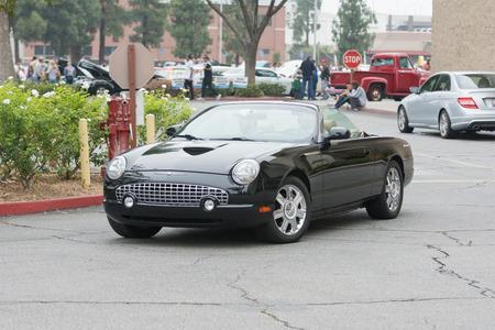 Woodland Hills, CA, USA - July 5, 2015: Ford Thunderbird car on display at the Supercar Sunday car event. Editöryel