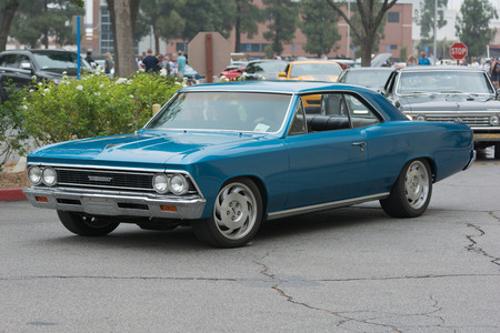 Woodland Hills, CA, USA - July 5, 2015: Chevrolet Chevelle car on display at the Supercar Sunday car event.