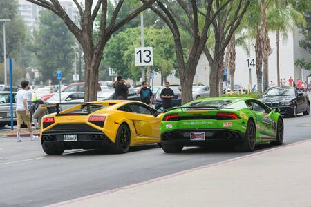 Woodland Hills, CA, USA - July 5, 2015: Lamborghini car on display at the Supercar Sunday car event.