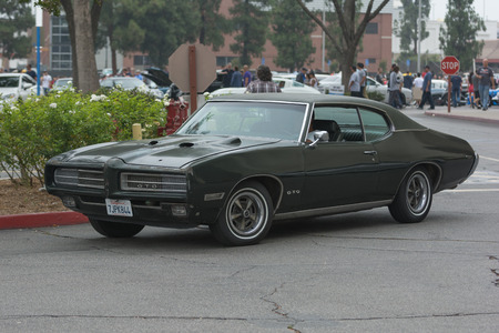 Woodland Hills, CA, USA - July 5, 2015: Pontiac GTO car on display at the Supercar Sunday car event.