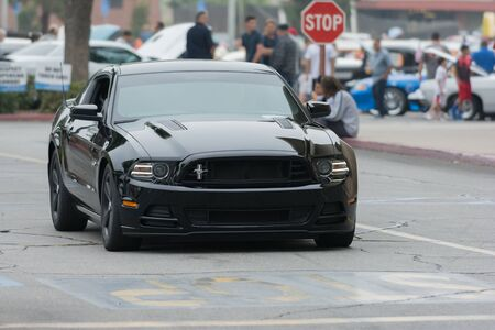 Woodland Hills, CA, USA - July 5, 2015: Ford Mustang car on display at the Supercar Sunday car event.