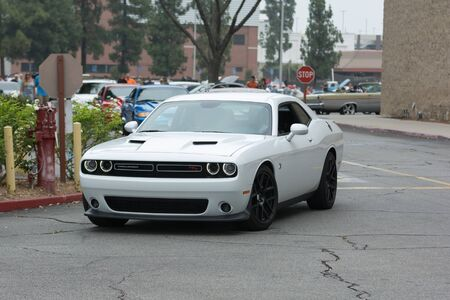 challenger: Woodland Hills, CA, USA - July 5, 2015: Dodge Challenger RT car on display at the Supercar Sunday car event. Editorial