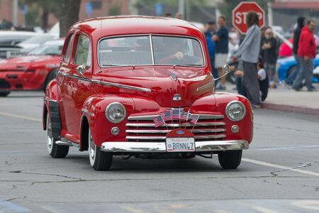 Woodland Hills, CA, USA - July 5, 2015: Ford Super Deluxe car on display at the Supercar Sunday car event.