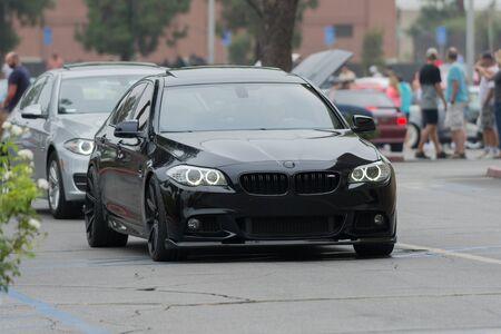 Woodland Hills, CA, USA - July 5, 2015: BMW car on display at the Supercar Sunday car event. Editöryel