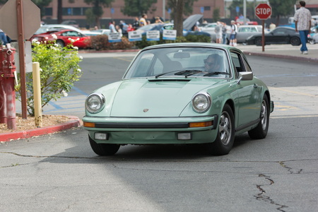 Woodland Hills, CA, USA - July 5, 2015: Classic Porsche 911 car on display at the Supercar Sunday car event.