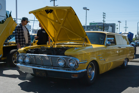 station wagon: Van Nuys, CA - USA - September 20, 2015:  Mercury Comet Station Wagon on display at The 4th Annual Galpin Car Show. Editorial