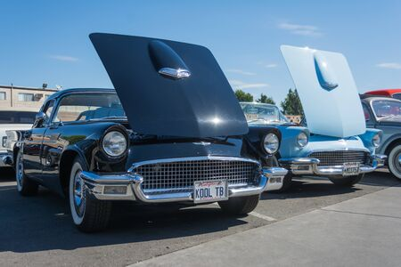 thunderbird: Van Nuys, CA - USA - September 20, 2015: Ford Thunderbird   on display at The 4th Annual Galpin Car Show.