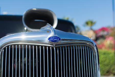 Van Nuys, CA - USA - September 20, 2015:  Ford truck detail on display at The 4th Annual Galpin Car Show.