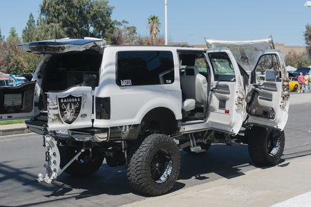 Van Nuys, CA - USA - September 20, 2015:  Monster Truck on display at The 4th Annual Galpin Car Show.