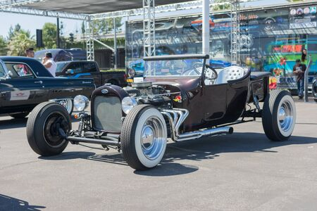 Van Nuys, CA - USA - September 20, 2015:  Ford Street Hot Rod Convertible on display at The 4th Annual Galpin Car Show.