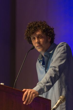 proto: Los Angeles, CA - USA - August 29, 2015: Jonnie Ross Founder, Visionary VR, The Proto Awards, Co Founder VRLA during VRLA Expo, virtual reality exposition, event at the Los Angeles Convention Center in Los Angeles.