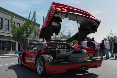 enzo: Pasadena, USA - April 24, 2016: Ferrari Enzo on display at the 9th Annual Concorso Ferrari event. Editorial