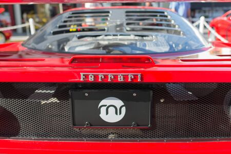 ferrari: Pasadena, USA - April 24, 2016: Ferrari logo on display at the 9th Annual Concorso Ferrari event.