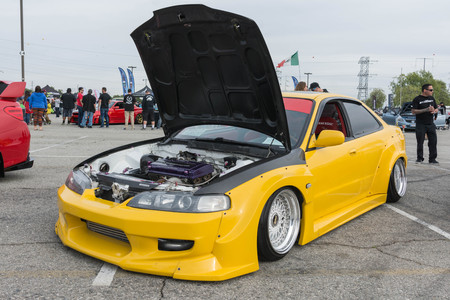 Irwindale, USA - March 4, 2017: Honda Accord modified on display during 742 Race Wars at the Irwindale Speedway.