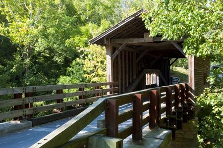 covered bridge': Old covered bridge Stock Photo