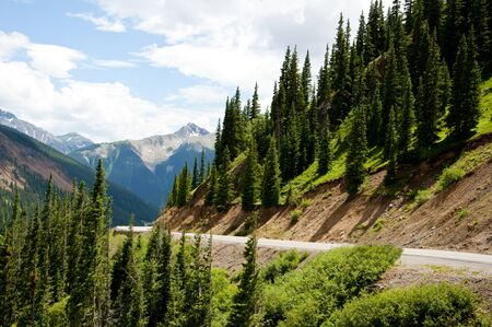 ouray: Snow-capped mountains amid scenic drive