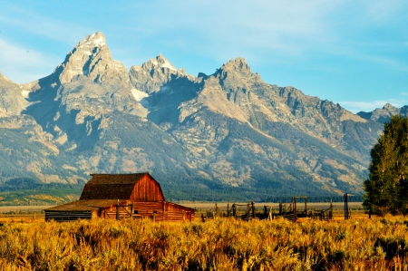 The old barn on Mormom Road in the Grand Tetons