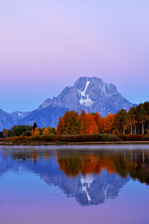 oxbow bend: Sunrise at Oxbow Bend in The Grand Tetons National Park