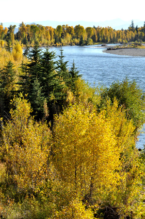 Grand Tetons National Park in fall photo