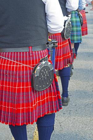 Close-up dress of Scotts-Irish festival players. photo