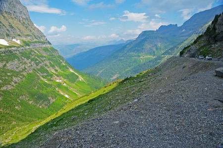 Going-to-the-sun-road in Glacier National Park. photo