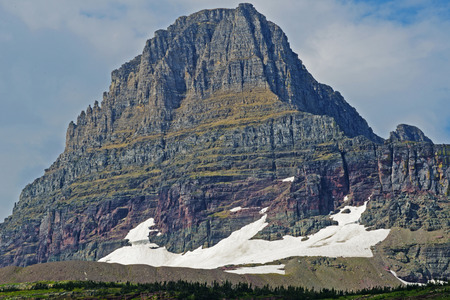 Lingering snow in Glacier National Park. photo