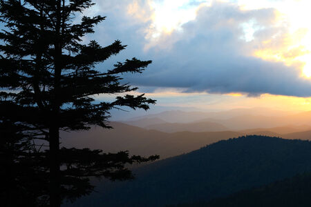 Sunset over Clingman\\\\