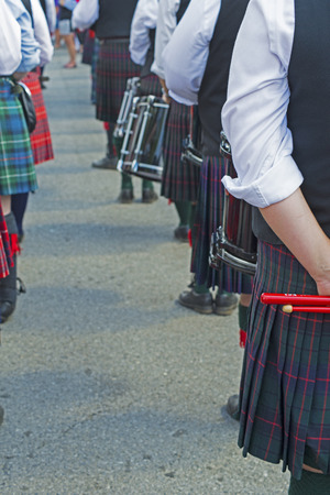 Row of participants in Scottish-Irish festival. photo