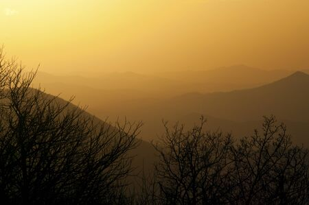 Sunset over the Great Smoky Mountains.