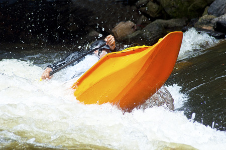 lifejacket: Kayak competition on the Pigeon River.
