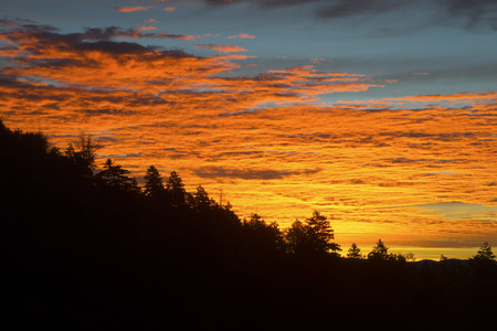 Sunrise in the Great Smoky Mountains. photo
