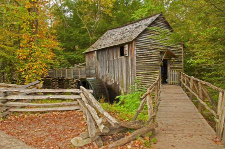 great smokies: Old historic grist mill in Cades Cove.