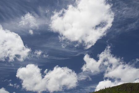 wispy: Blue skies with wispy clouds in the west.