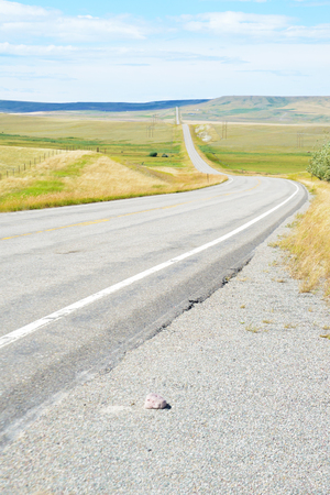 平らな国に縦長い曲がりくねった道。