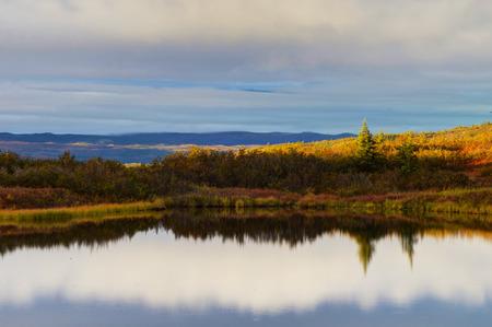 Wonder Lake dans le parc national de Denali.