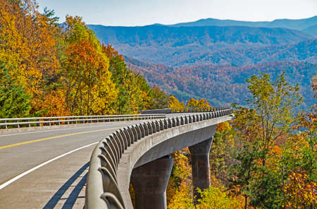 New section of the Foothills Parkway in Tennessee.