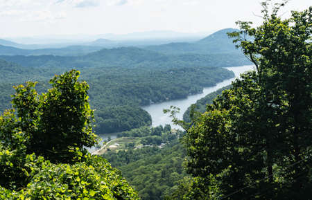 Scenic view from the top of Chimney Rock.