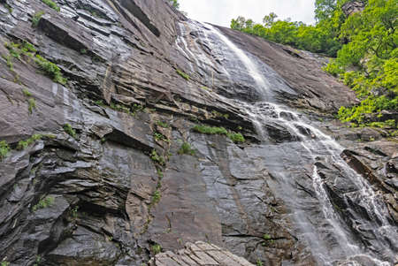 Waterfall at Chimney Rock State Park.