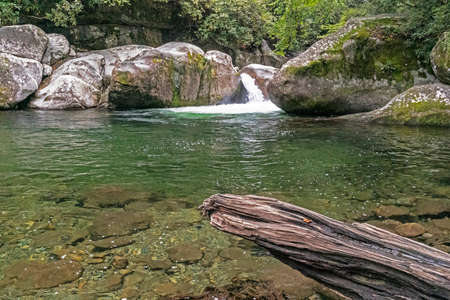 A deep swimming hole called