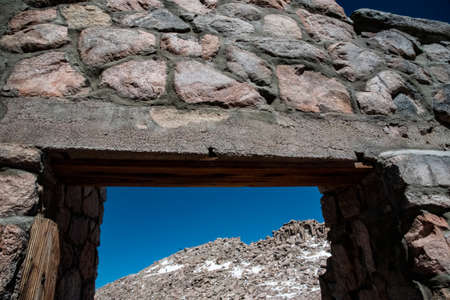 An old rock structure on the top of Mt. Evans in Colorado.