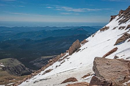 Beautiful snowy landscape on Mt. Evans in Colorado.