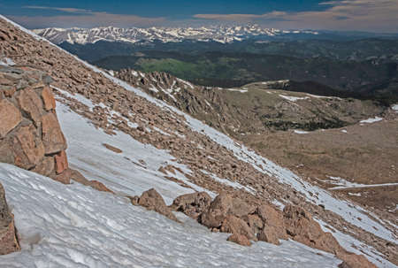 Scenic mountain of snow and boulders on Mt. Evans Colorado. Reklamní fotografie