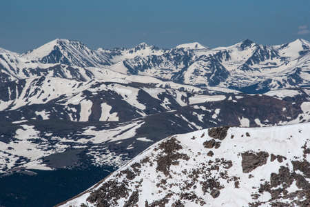 Scenic view right after a snow on Mt. Evans, Colorado.