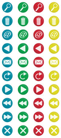 icone tonde: Colorate icone rotonde 2