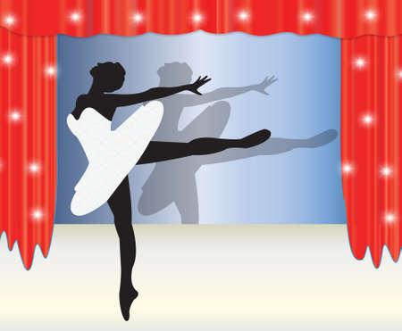 flexible girl: ballerina Illustration