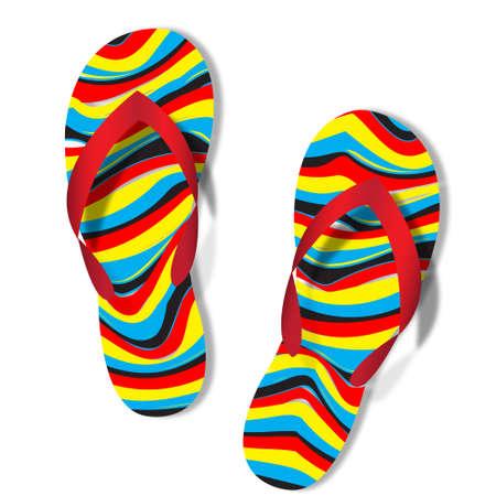 week end: flip flops  Vectores
