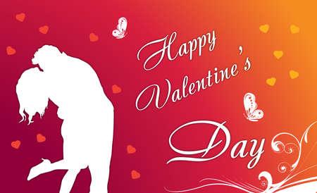 love card: pareja en la tarjeta del amor